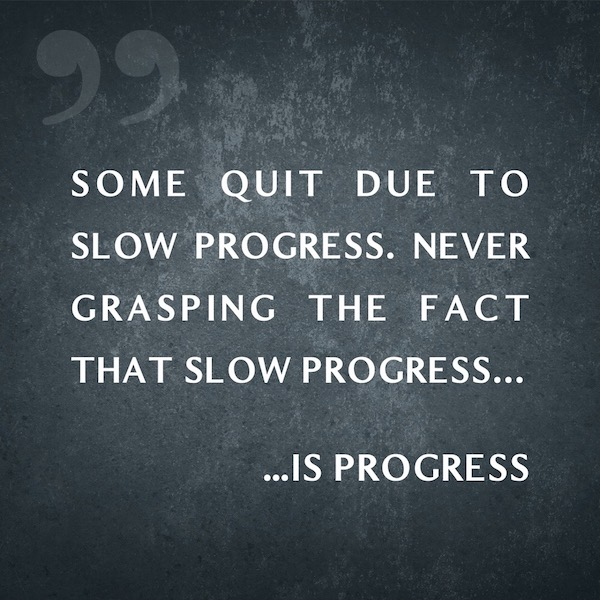 Some Quit Due To Slow Progress. Never Grasping The Fact That Slow Progress is Progress